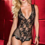 Mapale by Espiral Lace with Faux Leather Teddy
