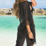 Mapale Swim & Beachwear Sheer Beach Kimono