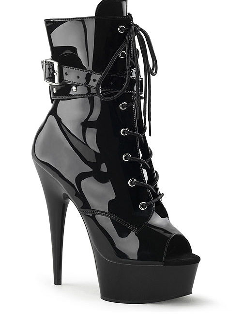 Pleaser 6″ Heel Delight Patent Bootie