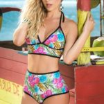 Mapale Swim & Beachwear 2 Pce Long Line Bikini Set