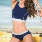 Mapale Swim & Beachwear 2 Pce Sporty Inspired Bikini Set