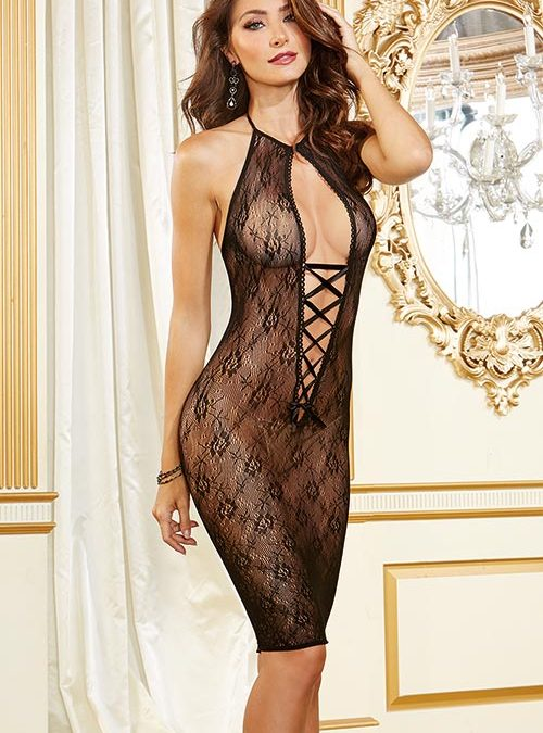 Dreamgirl Lace Long-Line Chemise
